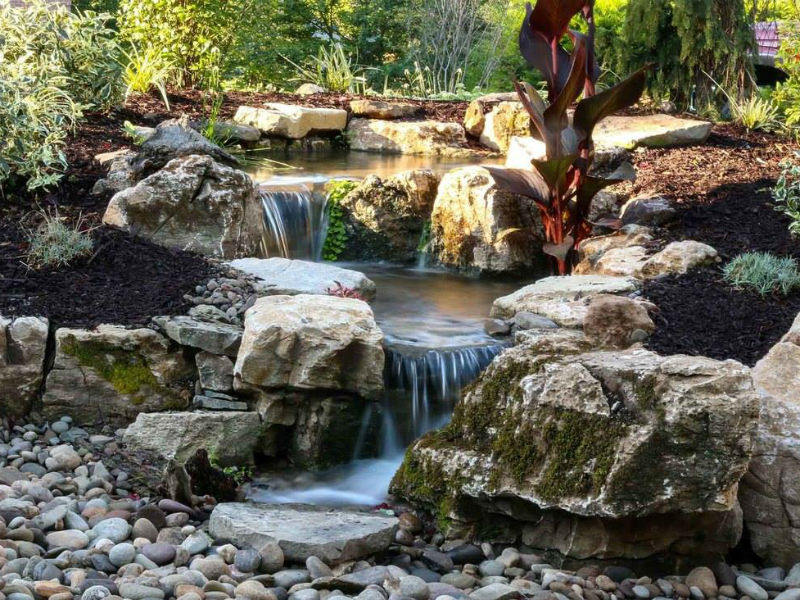 01-Landscape contractor near me Retaining Walls Water features Affordable landscaping - Medford oregon 97504